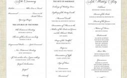 003 Imposing Wedding Program Template Word Sample  Catholic Mas Wording Idea Example Simple