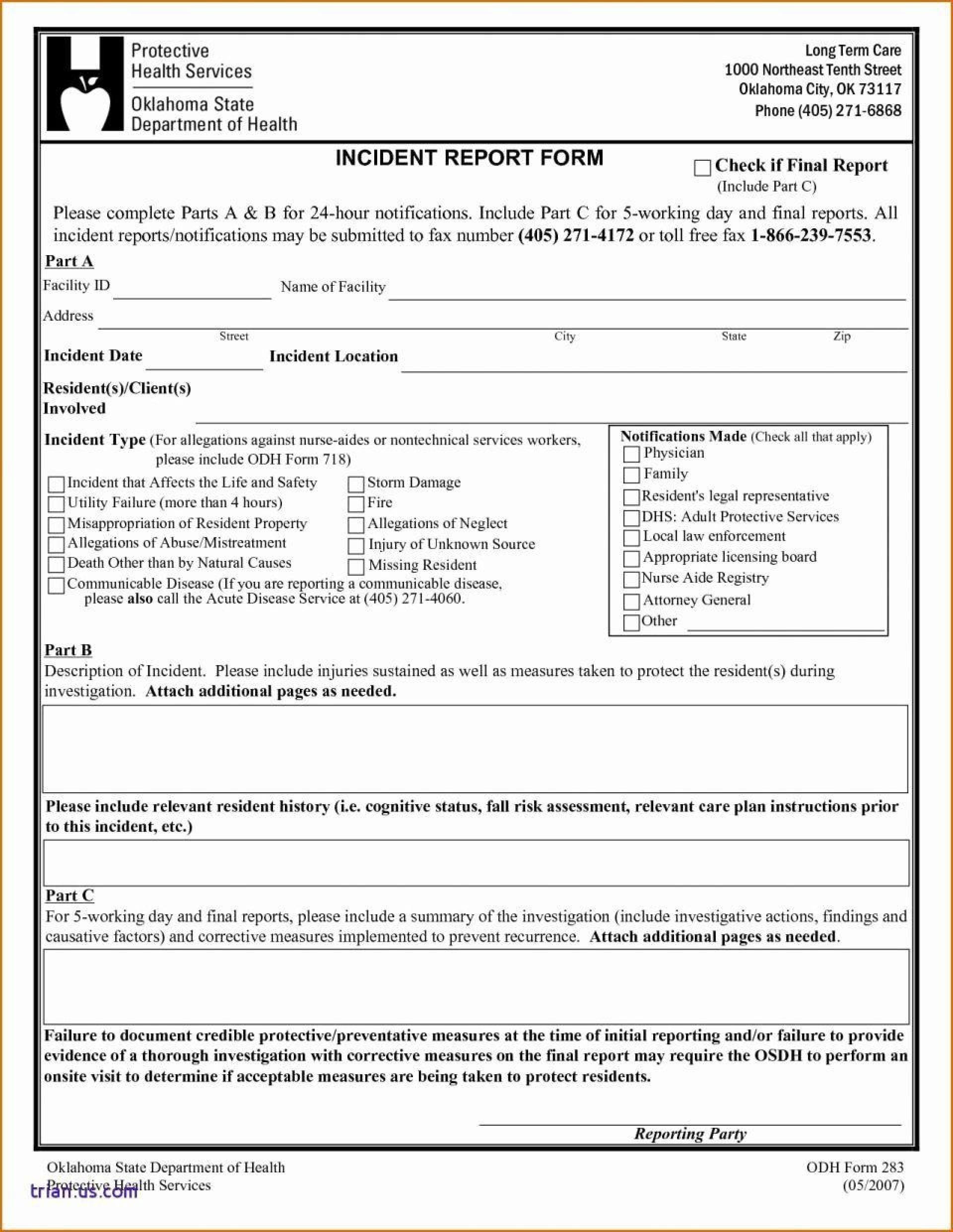 003 Imposing Workplace Incident Report Template Uk Highest Quality 1920