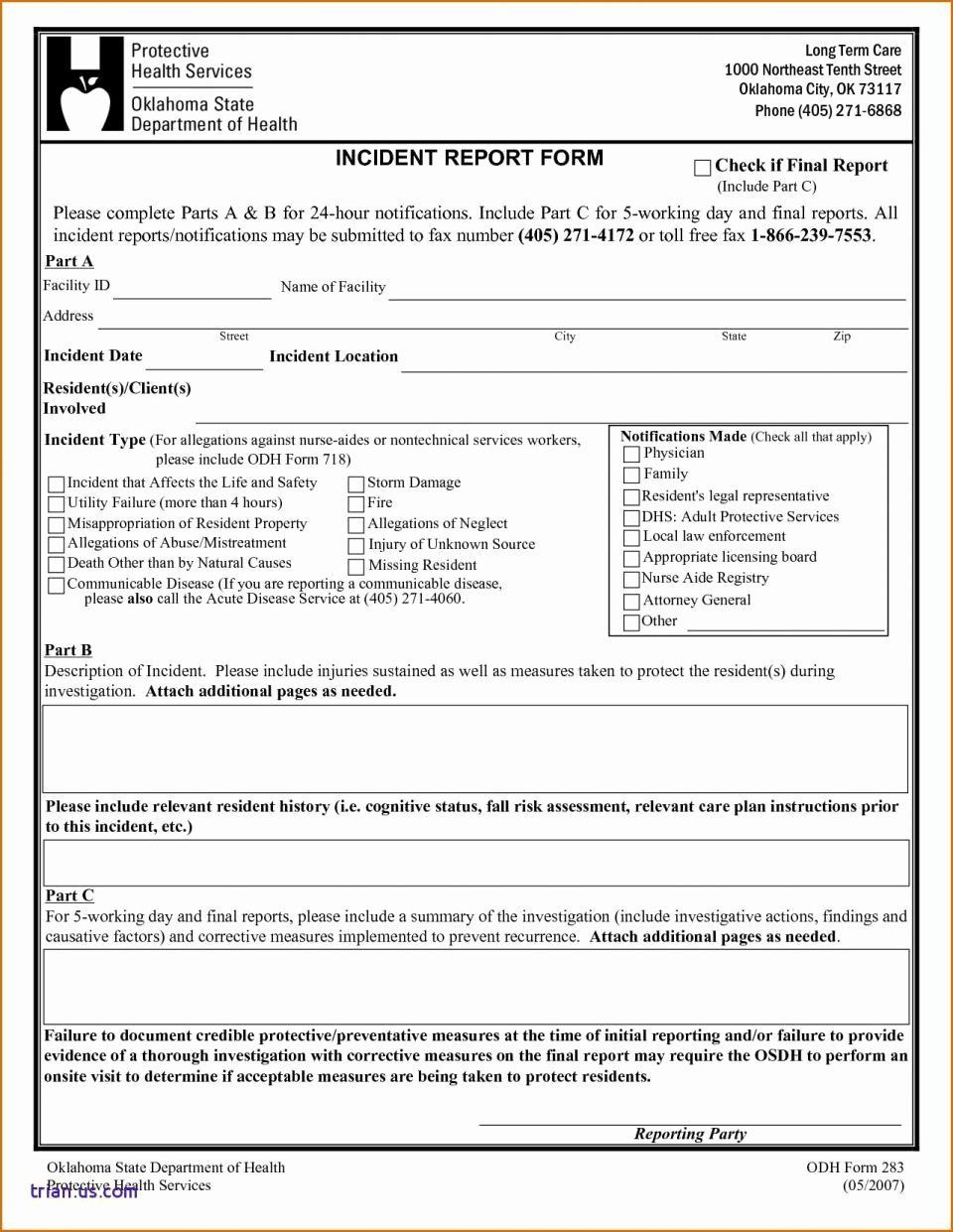 003 Imposing Workplace Incident Report Template Uk Highest Quality Full