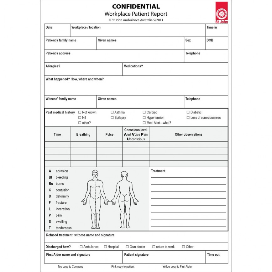 003 Imposing Workplace Injury Report Form Ontario Sample  Template Incident Violence