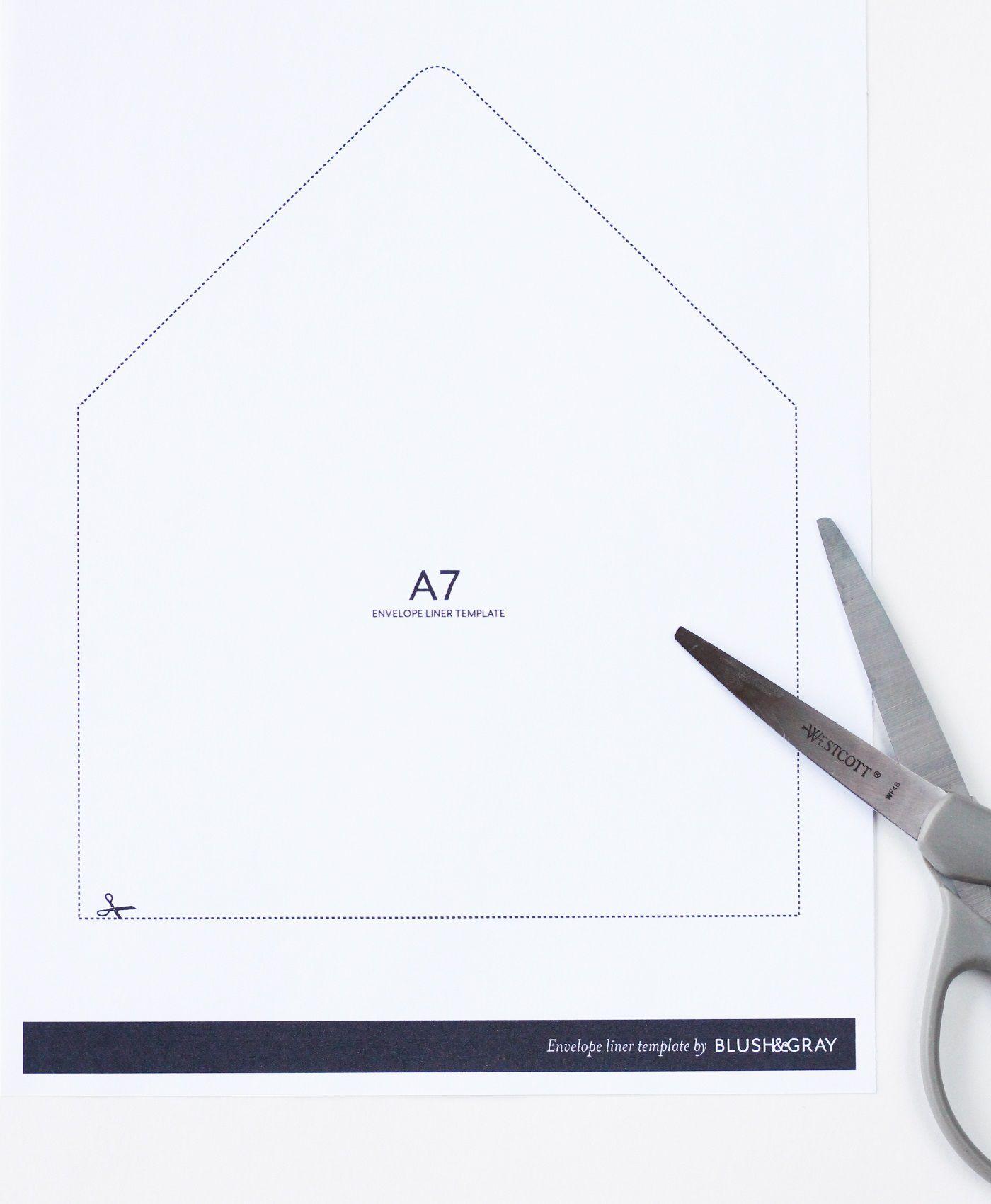 003 Impressive A7 Envelope Liner Template High Definition  Printable Illustrator FreeFull