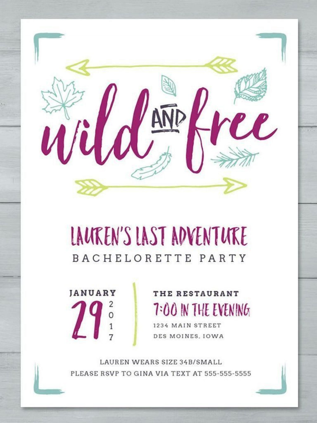 003 Impressive Bachelorette Party Invitation Template Word Free High Def Large