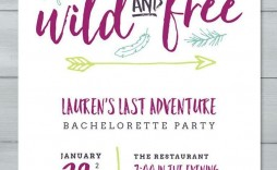 003 Impressive Bachelorette Party Invitation Template Word Free High Def