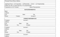 003 Impressive Busines Credit Application Form Template Free Highest Quality  South Africa Australia
