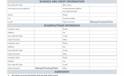 003 Impressive Busines Credit Application Form Template Free Uk Sample