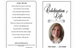 003 Impressive Celebration Of Life Word Template Free Highest Quality  Program