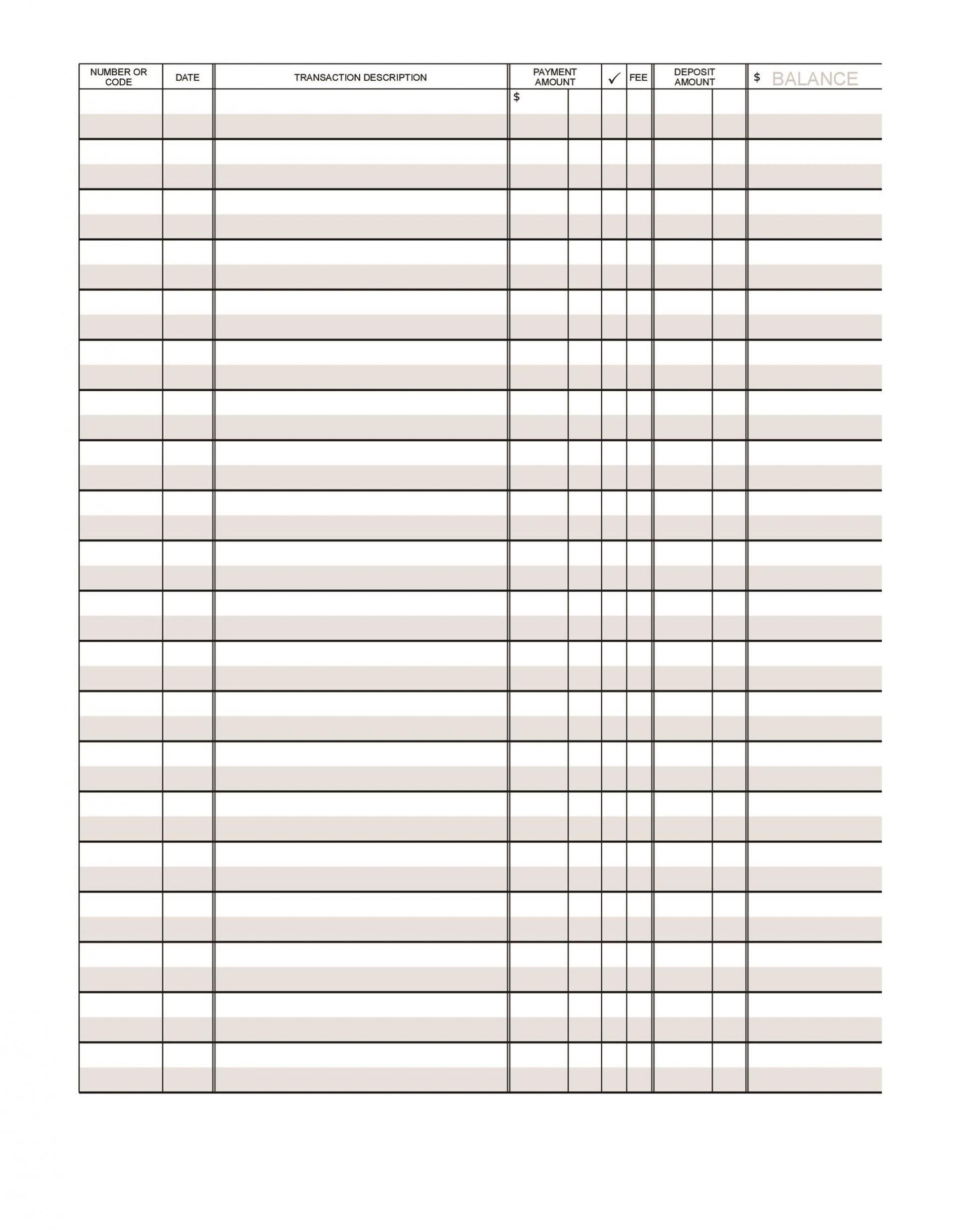 003 Impressive Check Register Template Printable Inspiration  Pdf Excel1920