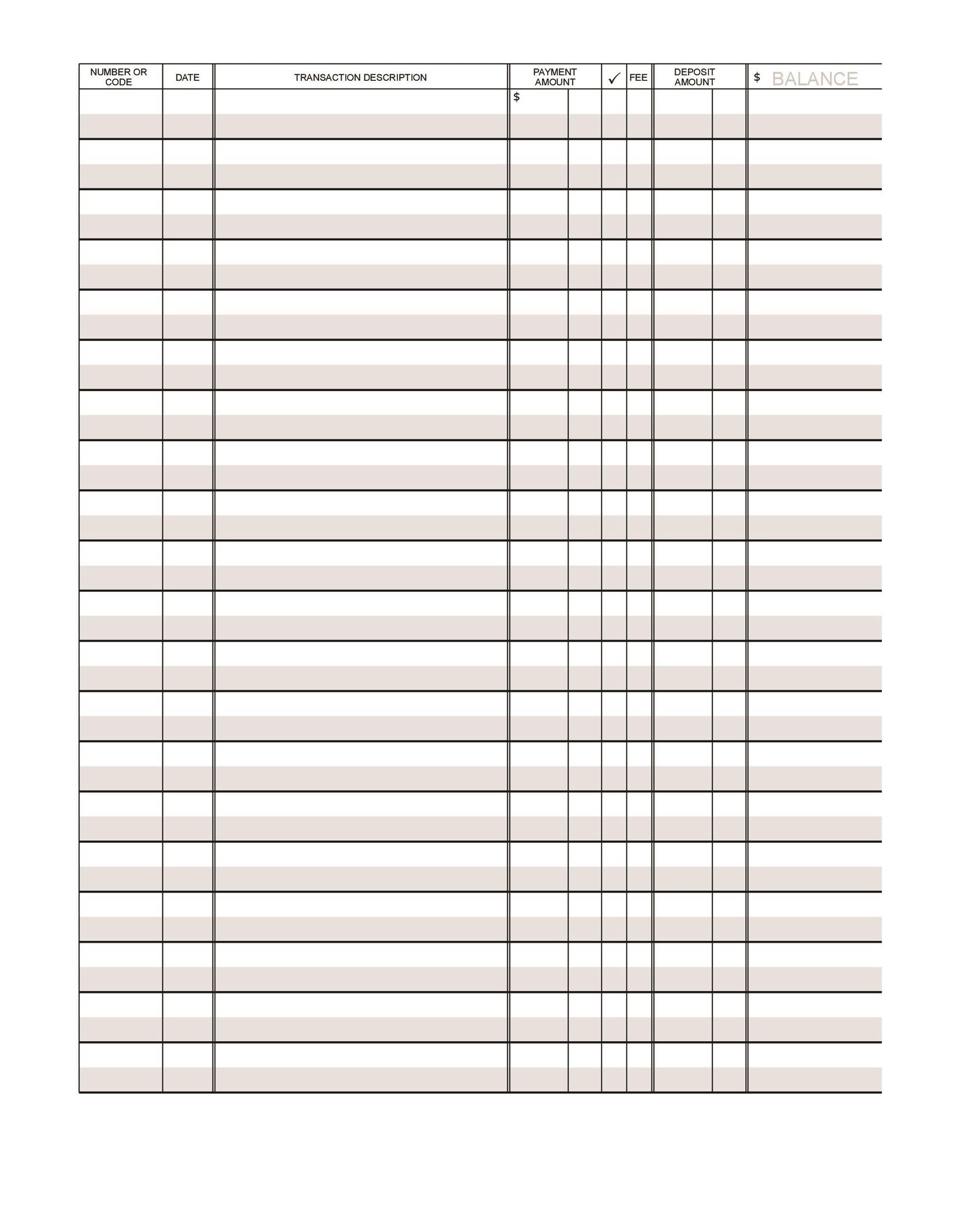 003 Impressive Check Register Template Printable Inspiration  Pdf ExcelFull