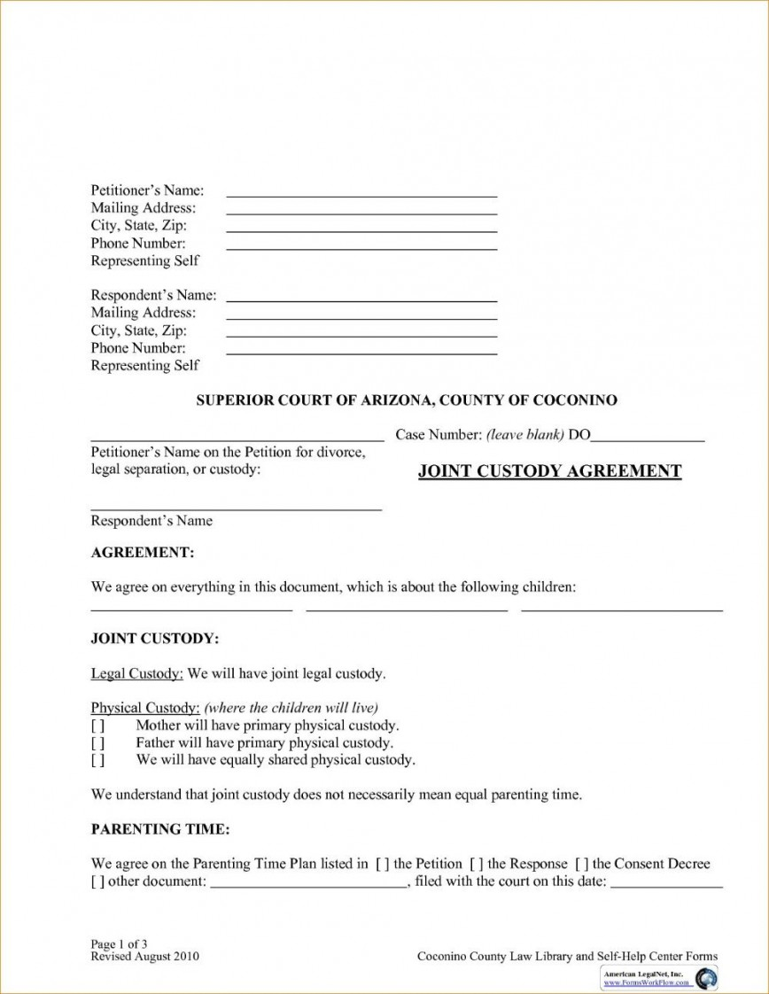 003 Impressive Child Custody Agreement Template High Def  Templates Nc Pa Free Ontario