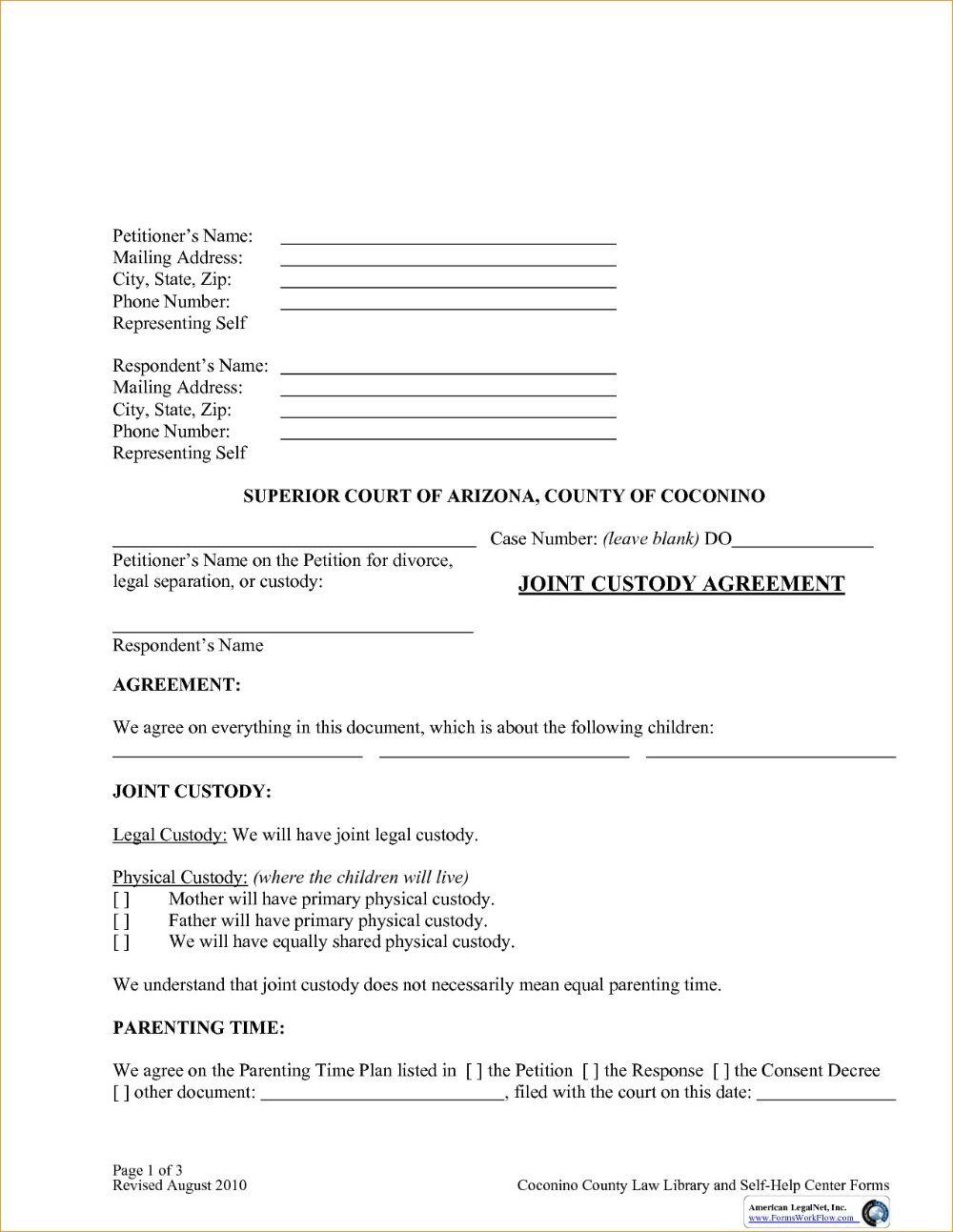 003 Impressive Child Custody Agreement Template High Def  Templates Pennsylvania Uk FreeFull