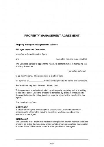 003 Impressive Commercial Property Management Agreement Template Uk Inspiration 360