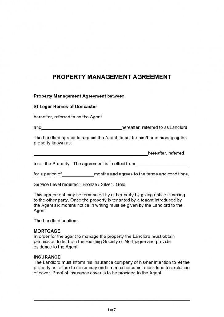 003 Impressive Commercial Property Management Agreement Template Uk Inspiration 728