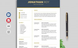 003 Impressive Creative Resume Template Free Microsoft Word Sample  Download For Fresher