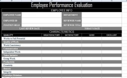 003 Impressive Employee Evaluation Form Template Photo  Word Self Free