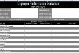 003 Impressive Employee Evaluation Form Template Photo  Sample Doc Printable Free Word