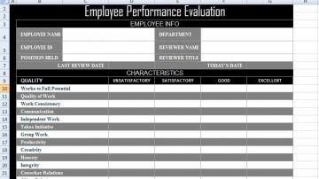 003 Impressive Employee Evaluation Form Template Photo  Sample Doc Printable Free Word360