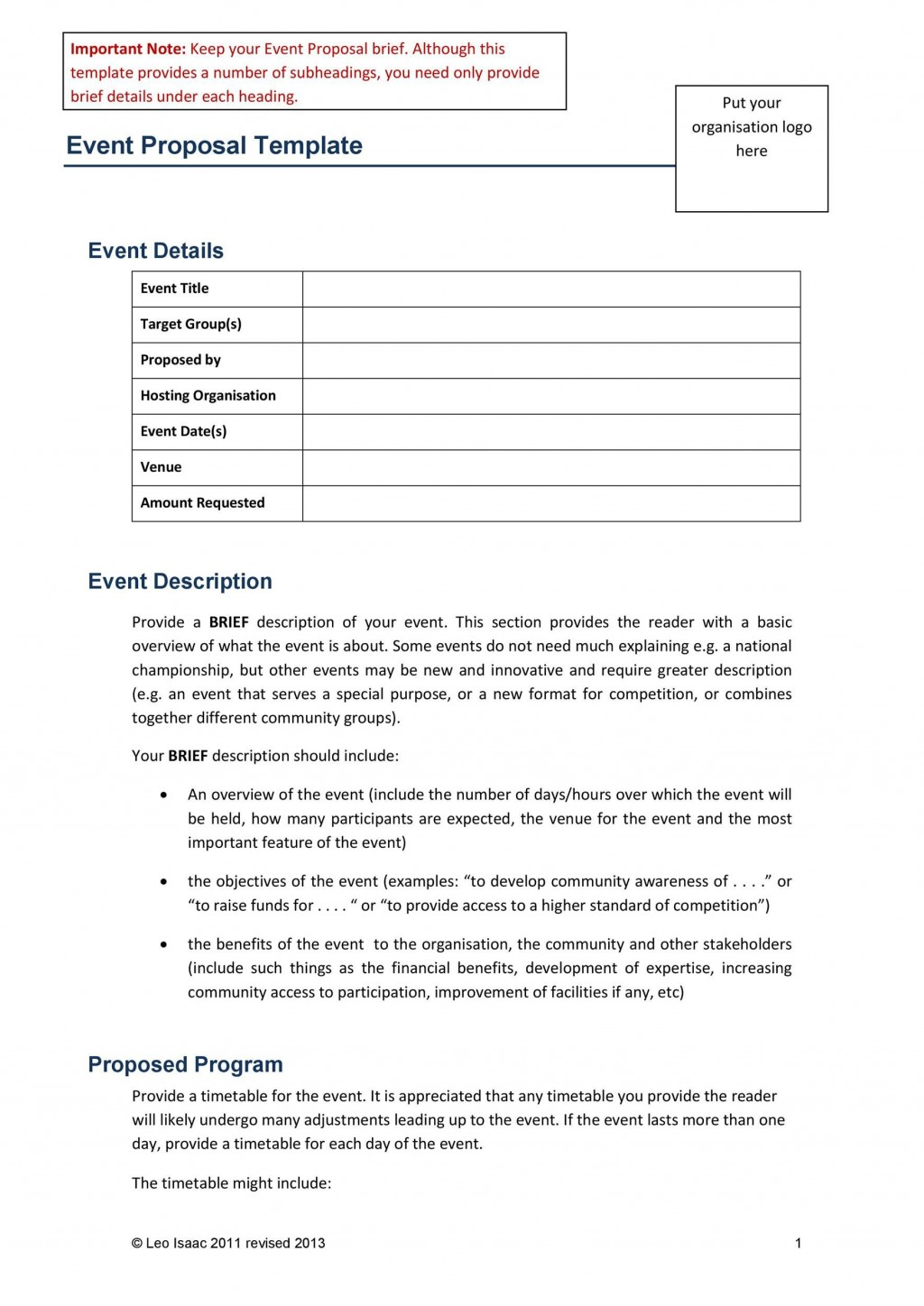 003 Impressive Event Planning Proposal Template High Definition  Example Pdf WordLarge
