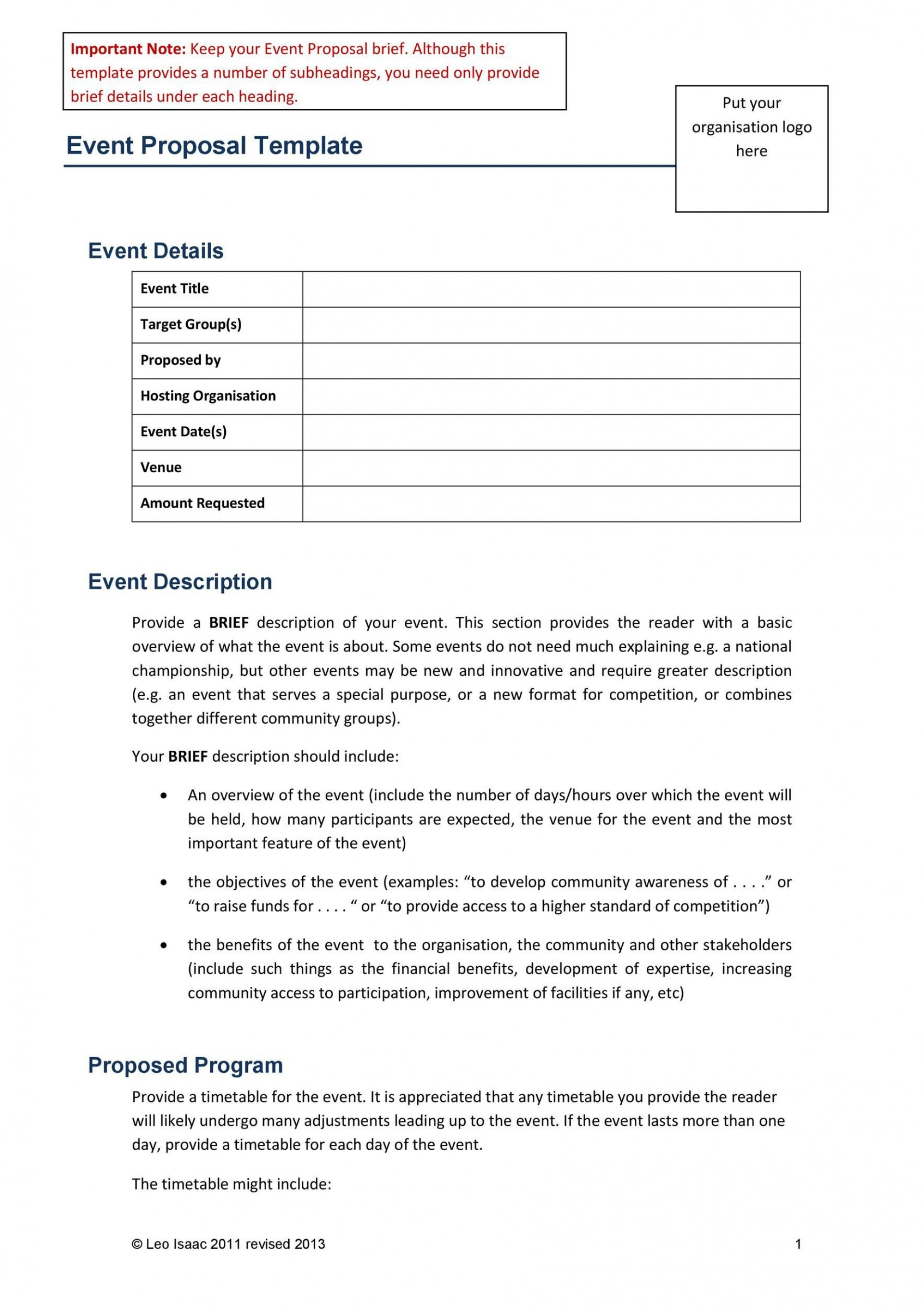 003 Impressive Event Planning Proposal Template High Definition  Example Pdf Word1920