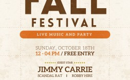 003 Impressive Fall Festival Flyer Template Picture  Free