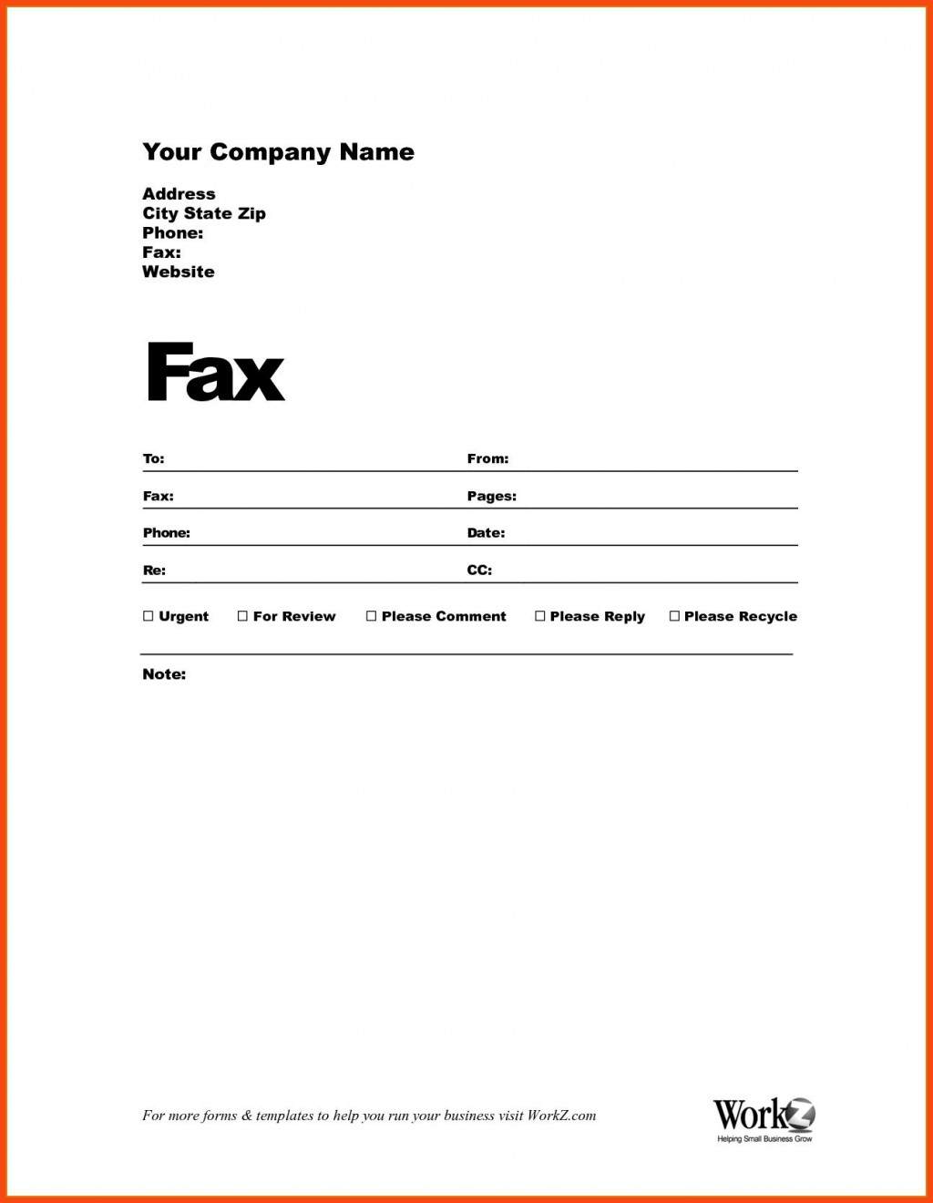 003 Impressive Fax Template Microsoft Word Example  Cover Sheet 2010 Letter BusinesLarge