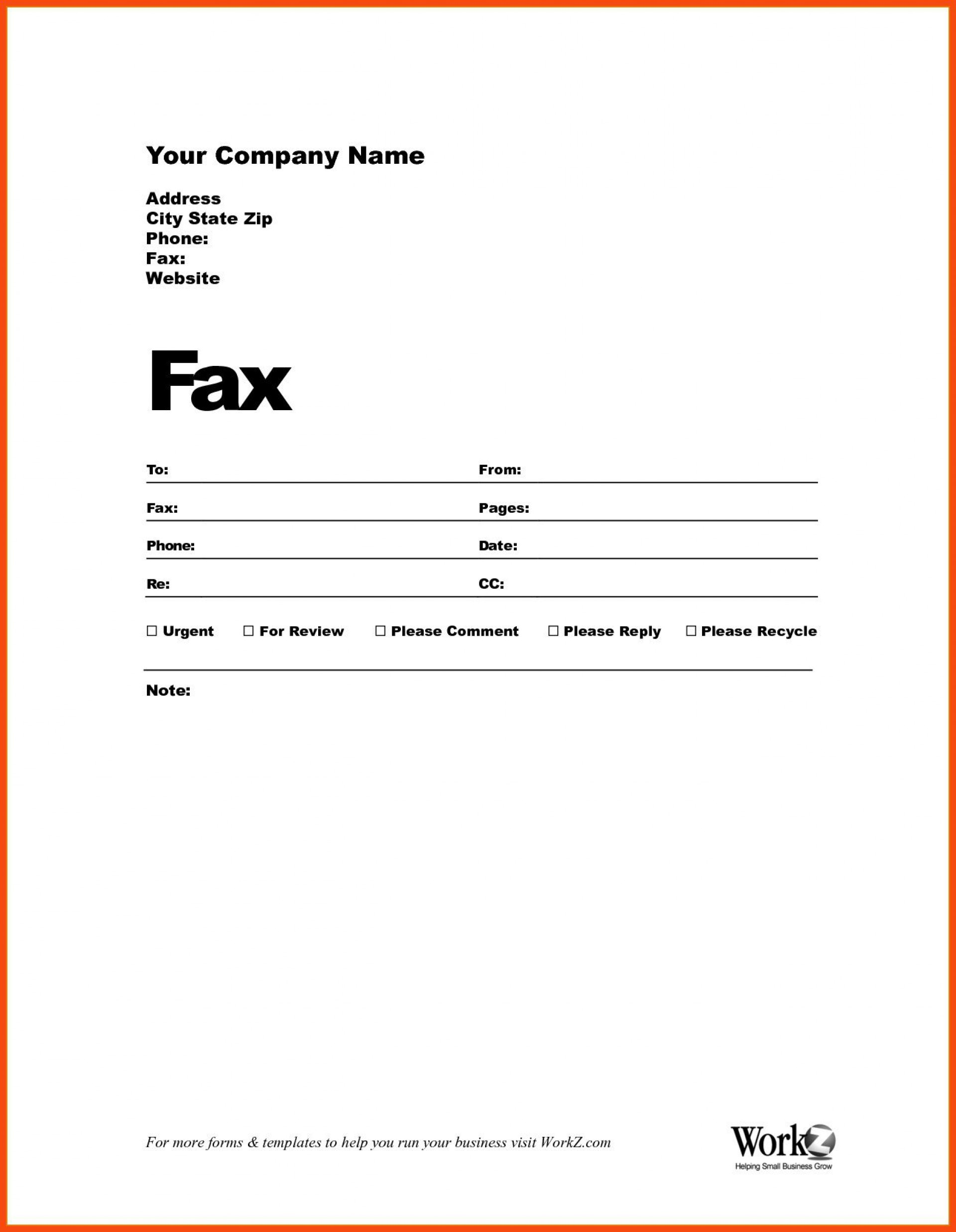003 Impressive Fax Template Microsoft Word Example  Cover Sheet 2010 Letter Busines1920