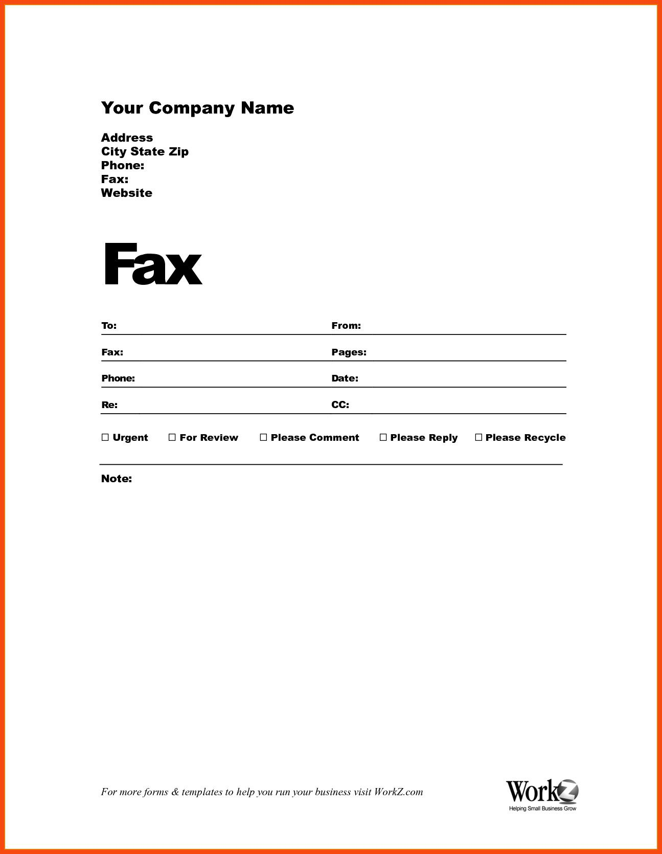 003 Impressive Fax Template Microsoft Word Example  Cover Sheet 2010 Letter BusinesFull