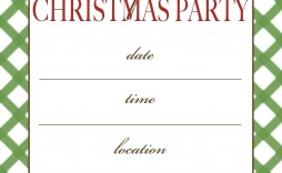 003 Impressive Free Christma Invitation Template Word Example  Holiday Party Editable