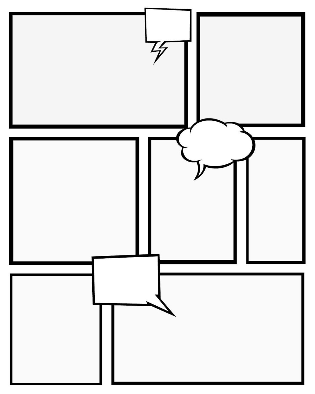 003 Impressive Free Comic Strip Template Word Picture Large