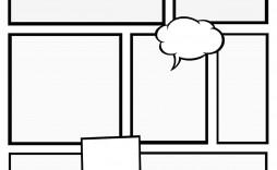 003 Impressive Free Comic Strip Template Word Picture