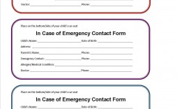 003 Impressive Free Emergency Contact Card Template Uk Concept