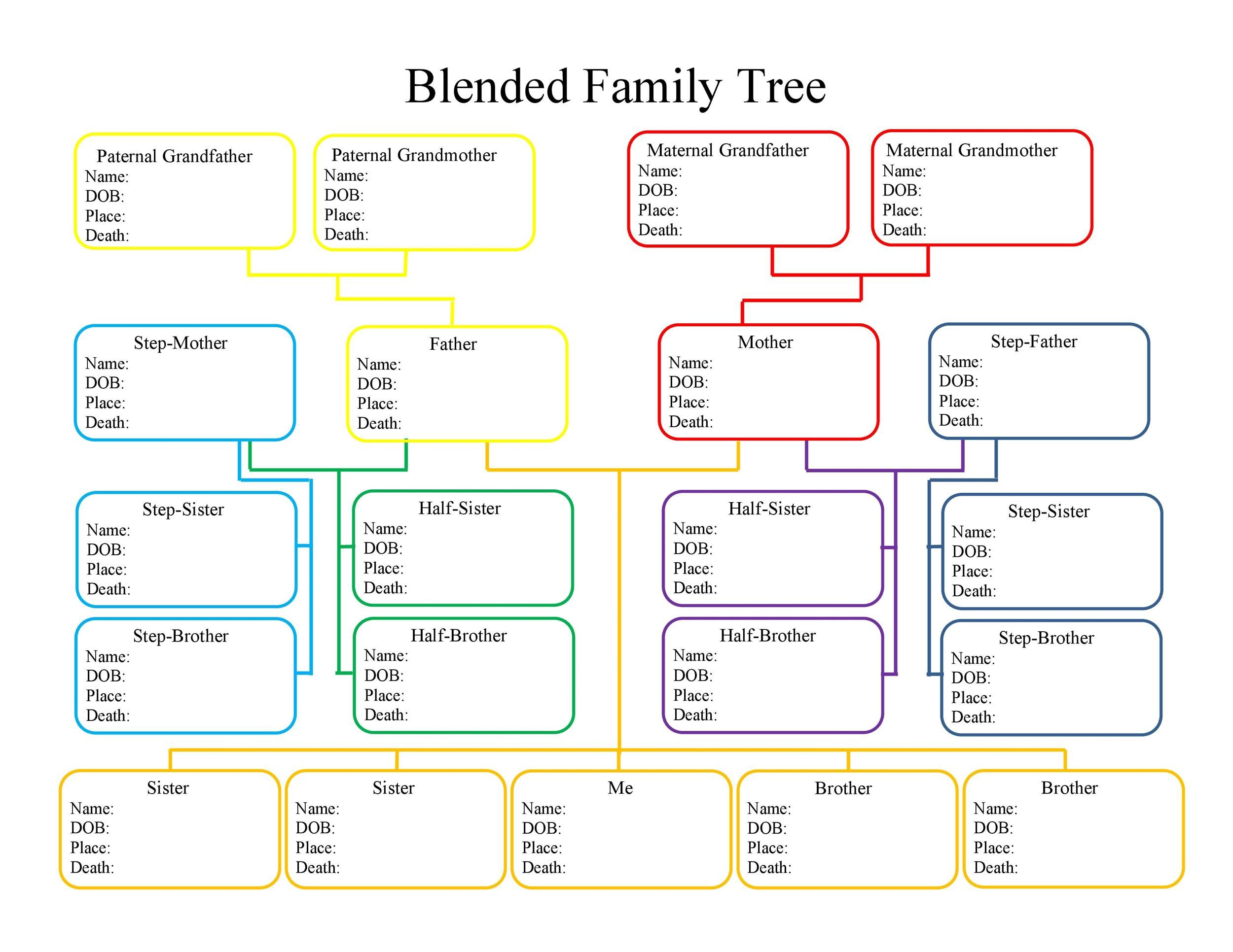 003 Impressive Free Family Tree Template Word Example  Microsoft DocumentFull