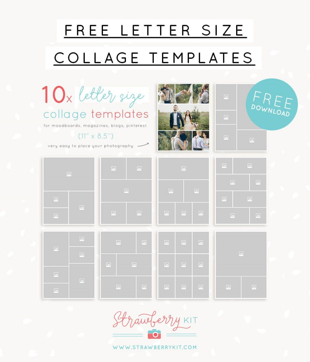 003 Impressive Free Photo Collage Template No Download Example Large