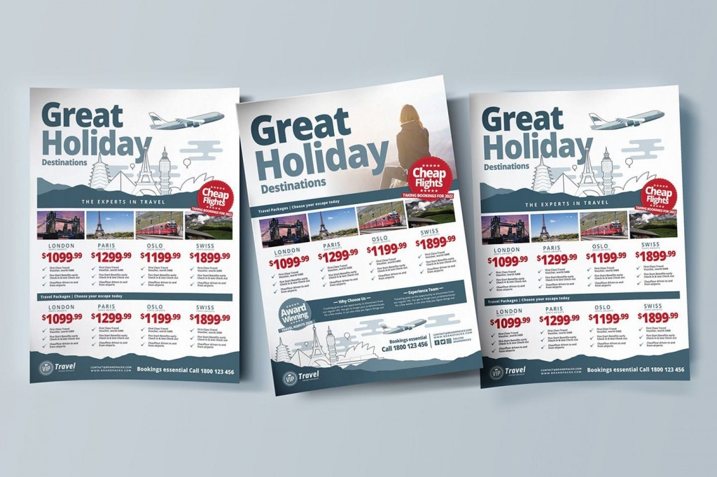 003 Impressive Free Travel Flyer Template Download Picture Large