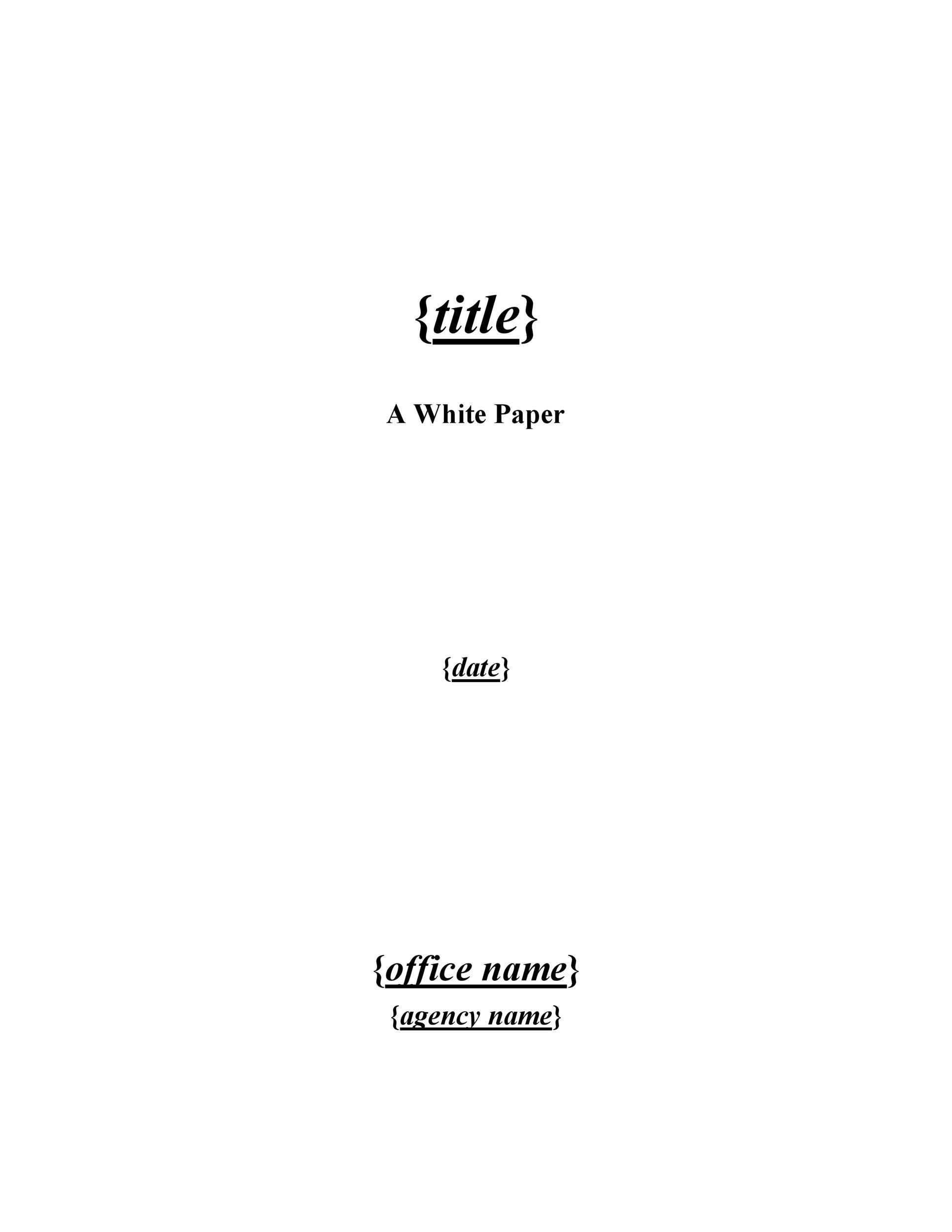 003 Impressive Free White Paper Template Microsoft Word Idea Full
