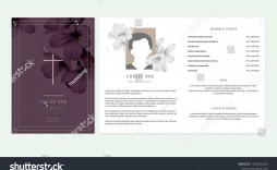 003 Impressive Funeral Invitation Template Free Picture  Memorial Service Card Reception