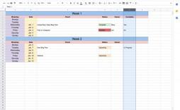 003 Impressive Google Sheet Calendar Template Concept  Templates Monthly Spreadsheet 2020 2018
