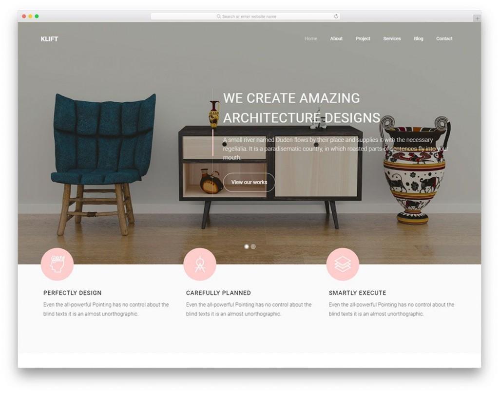 003 Impressive Interior Design Html Template Free Download Idea Large