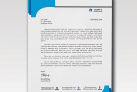 003 Impressive Letterhead Template Free Download Psd Sample  Corporate A4