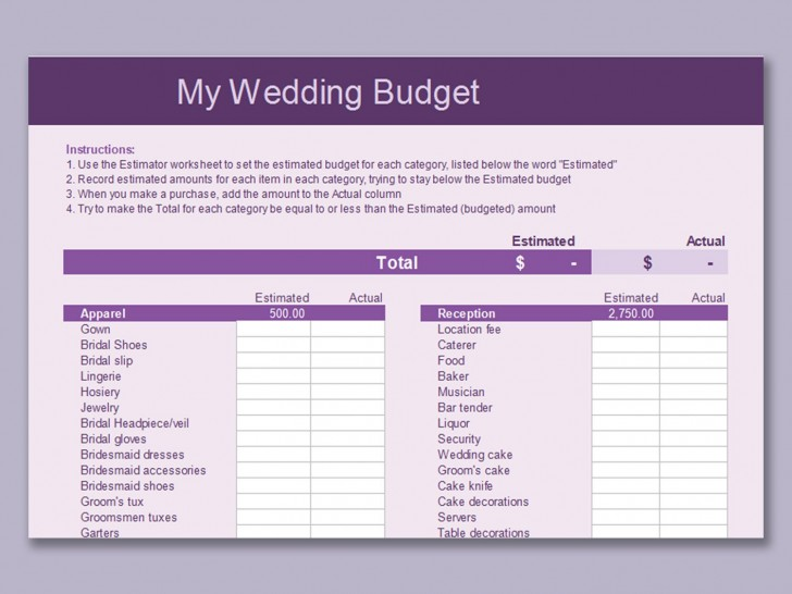 003 Impressive Line Item Budget Template Word High Resolution 728