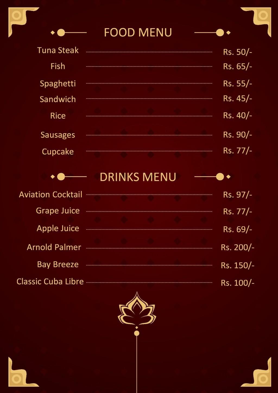 003 Impressive Menu Card Template Free Download Example  Indian Restaurant Design CafeLarge