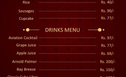 003 Impressive Menu Card Template Free Download Example  Indian Restaurant Design Cafe