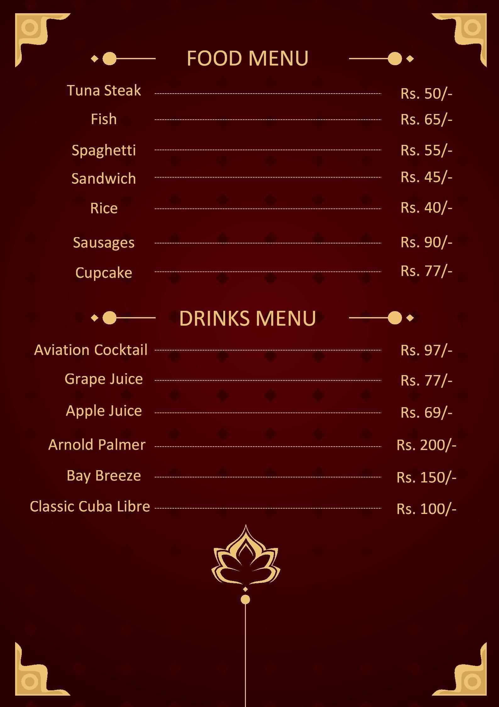 003 Impressive Menu Card Template Free Download Example  Indian Restaurant Design CafeFull