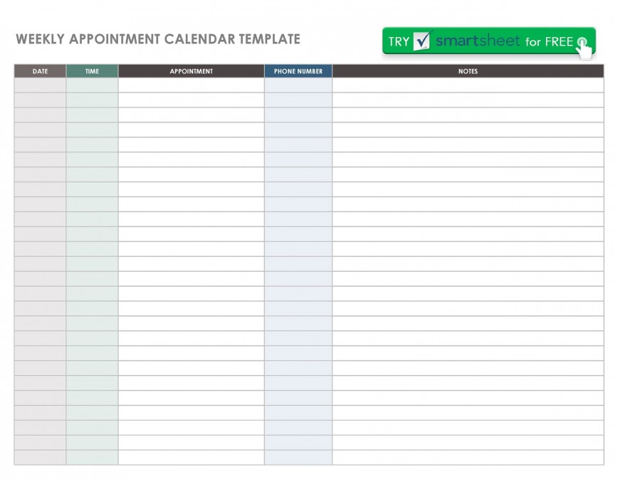 003 Impressive Monthly Appointment Calendar Template Highest Clarity  Planning Excel Downloadable 2019