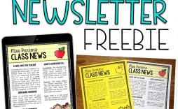 003 Impressive Newsletter Template For Teacher High Def  Teachers To Parent Free Printable Digital