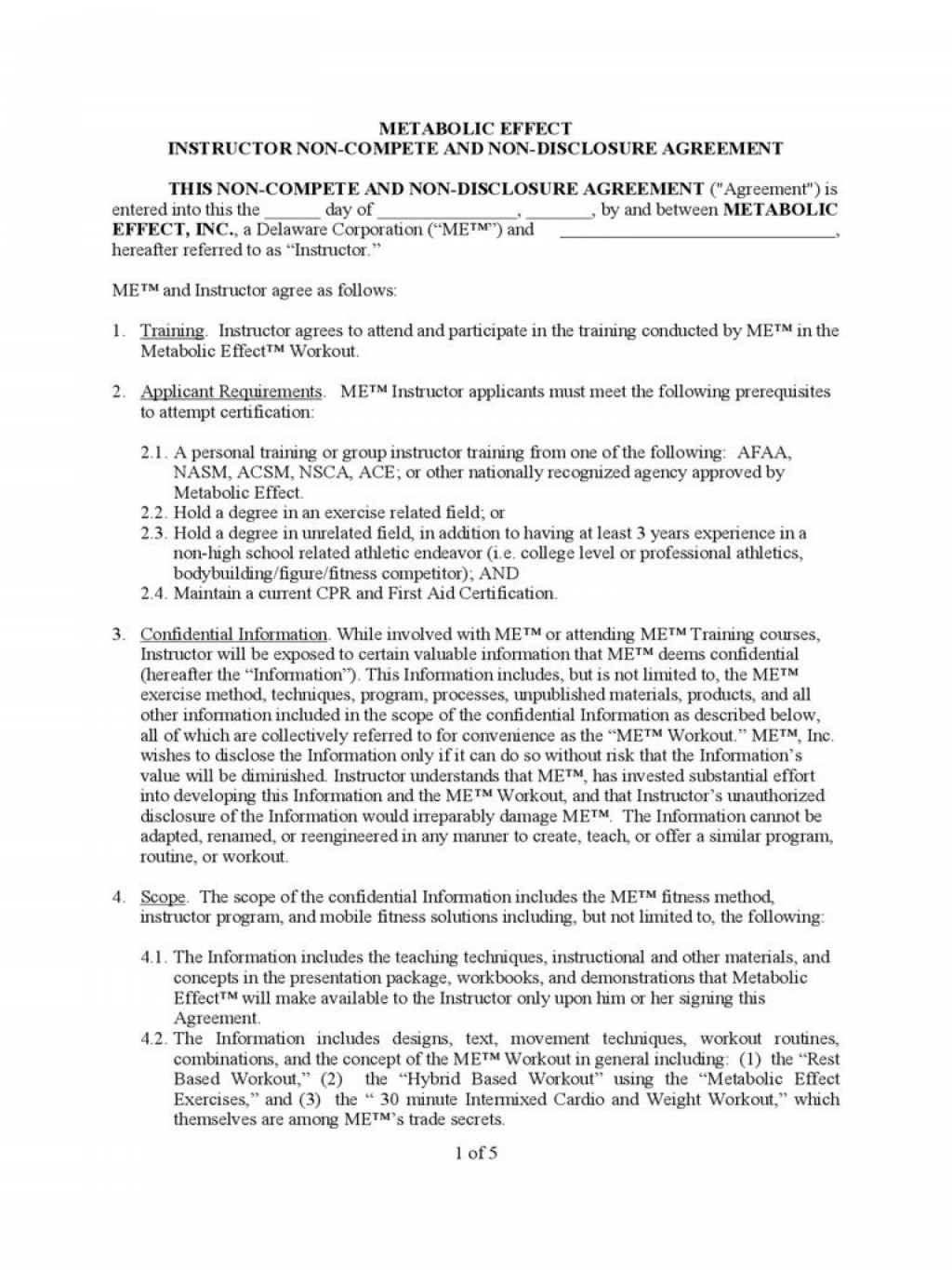 003 Impressive Non Compete Agreement Template Uk High Definition Large