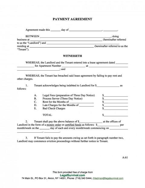 003 Impressive Payment Plan Agreement Template Inspiration  Free480