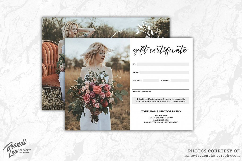 003 Impressive Photography Gift Certificate Template Photoshop Free Highest Clarity Large