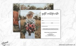 003 Impressive Photography Gift Certificate Template Photoshop Free Highest Clarity