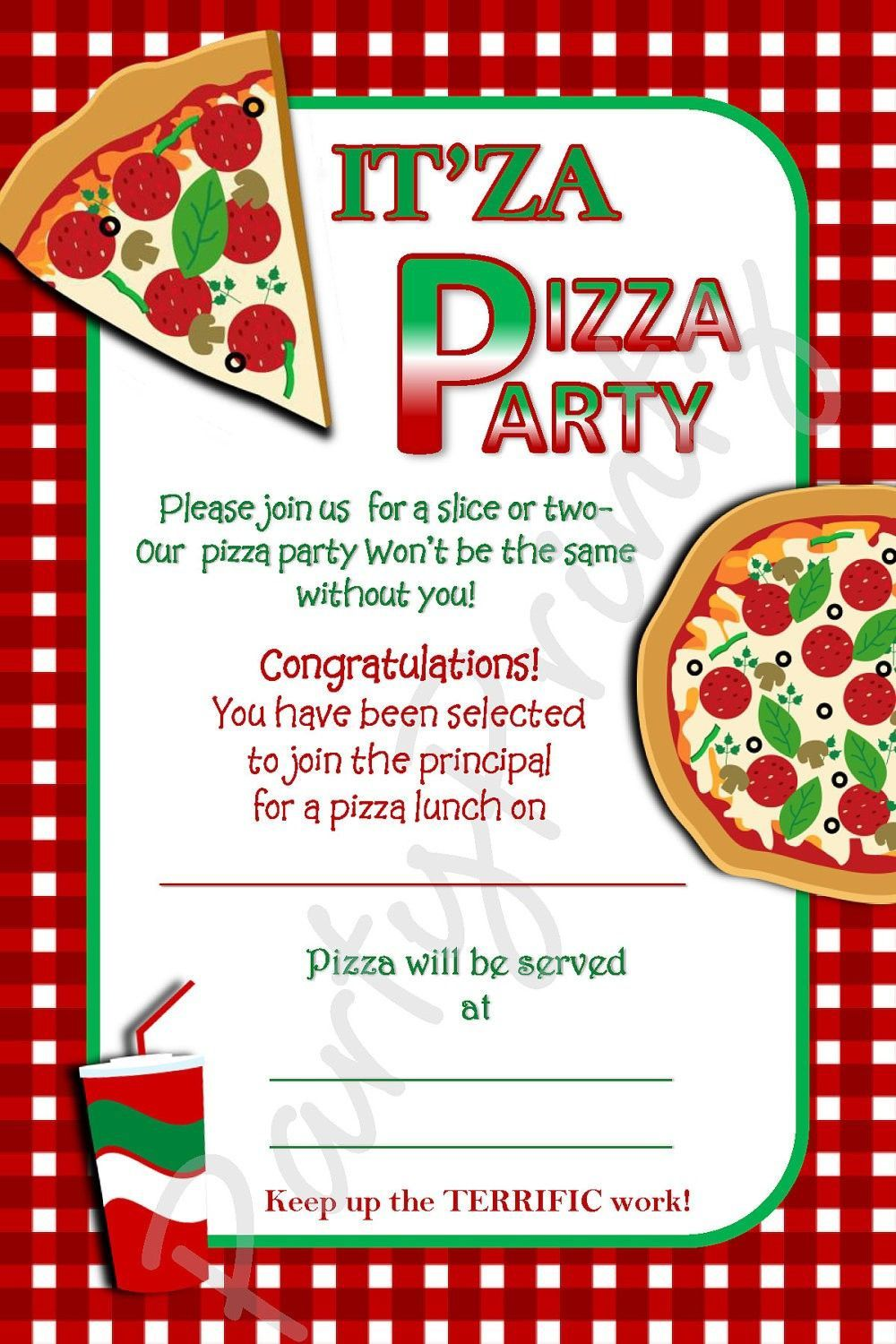 003 Impressive Pizza Party Invitation Template Free Design  PrintableFull