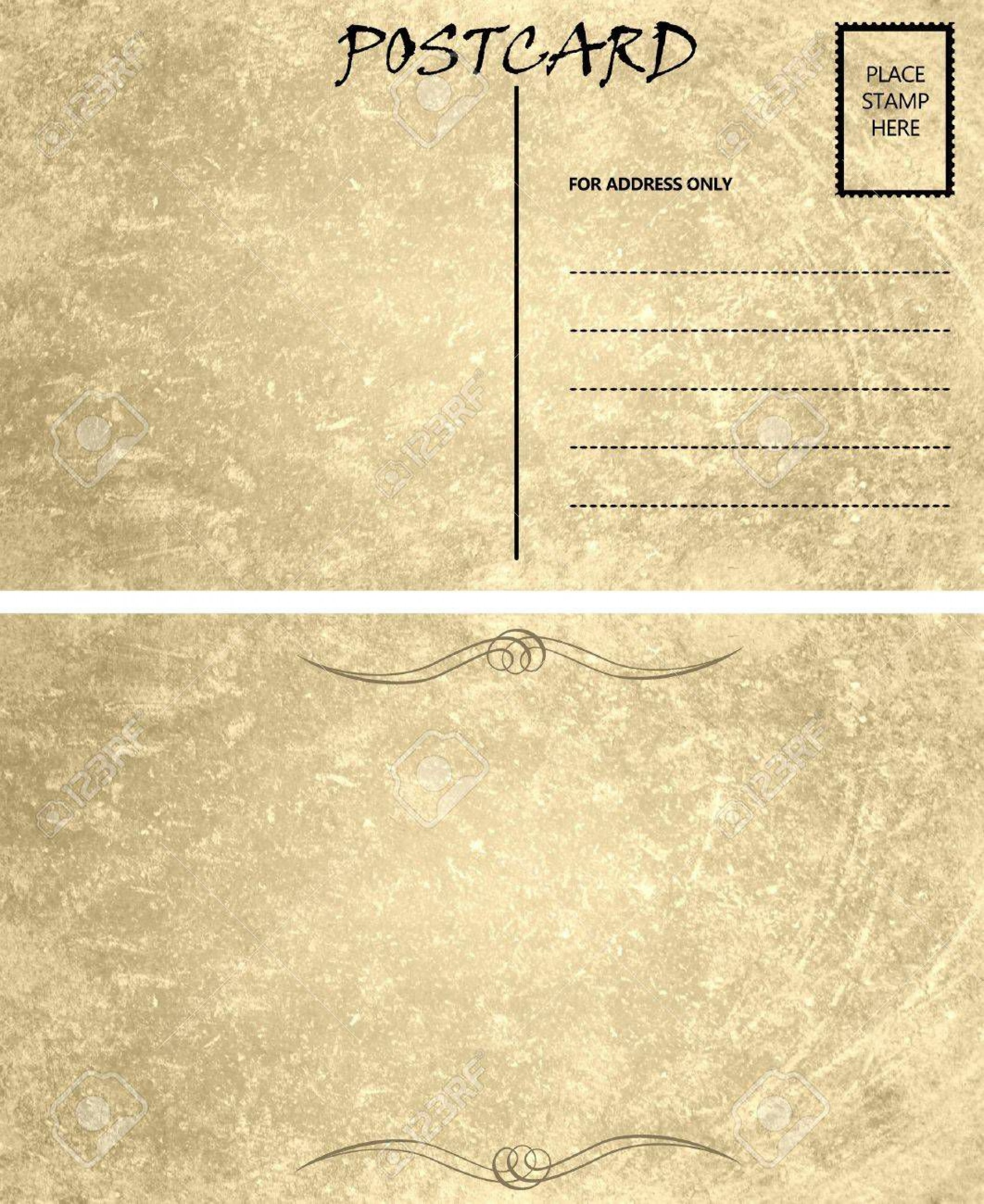 003 Impressive Postcard Template Front And Back Inspiration  Free Word1920